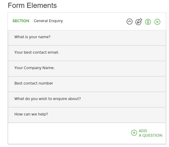 Online form elements
