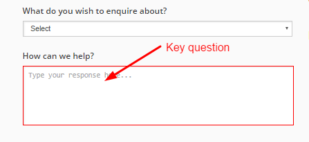 Key question Online form
