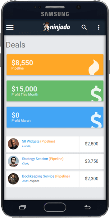 Ninjodo Small Business Mobile CRM Software