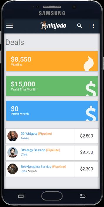 Ninjodo Small Business Mobile CRM Software