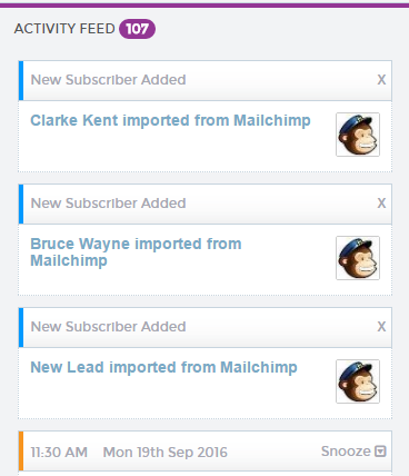 Mailchimp crm integration - New Subscribers