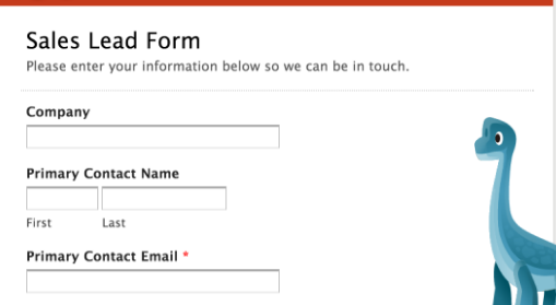 Sales Lead Online form