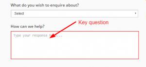 Key question Online form