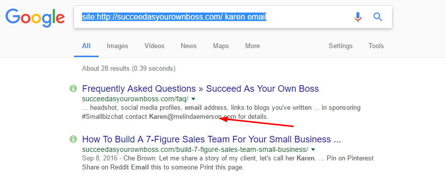 find any email address google search