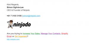 Ninjodo HTML Email Signatures