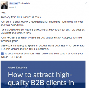 Get free leads on Facebook groups