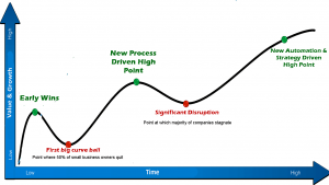 Rapid business growth curve