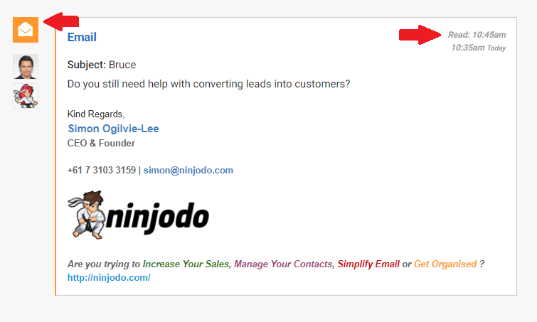 Ninjodo Email Open Tracking