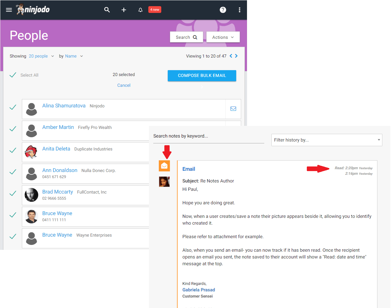 Ninjodo Bulk Emailing and Open Tracking