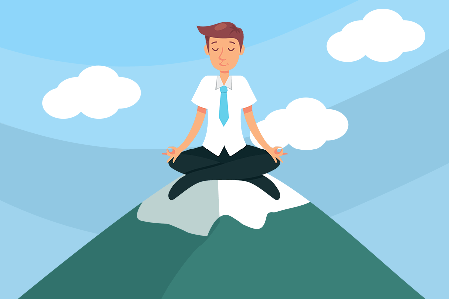 Man Meditating for more qualified leads and sales